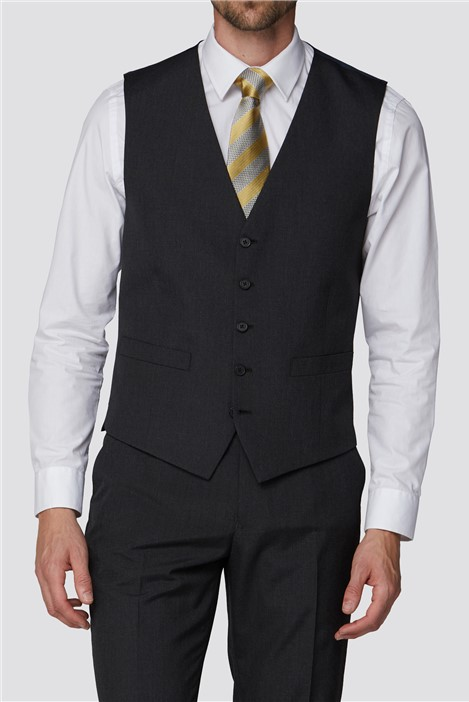 The Collection Branded Charcoal Regular Fit Waistcoat