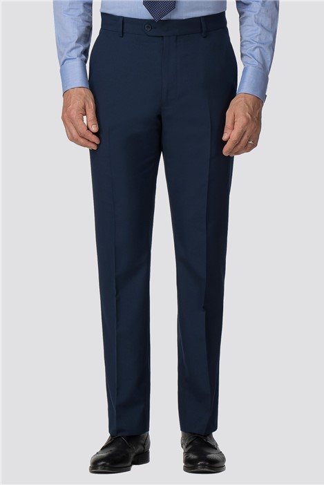 The Collection Branded Blue Regular Fit Suit Trousers