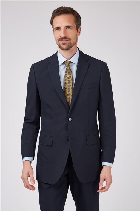 Limehaus Plain Navy Panama Slim Fit Suit