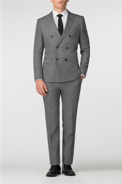 Limehaus Grey Jaspe Double Breasted Slim Fit Suit