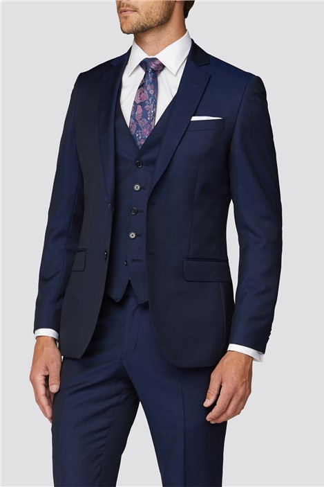 Alexandre Silver Label Alexandre of England Weston Blue Twill Suit