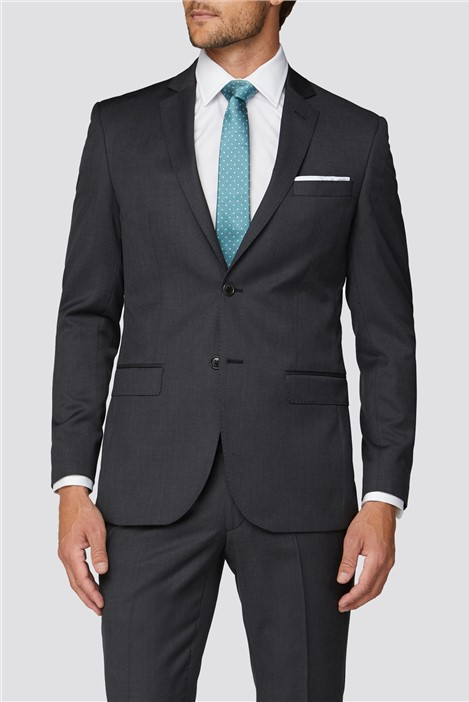 Alexandre Silver Label Alexandre of England Weston Charcoal Twill Suit