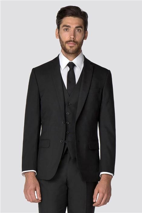 Racing Green Black Panama Tailored Fit Suit