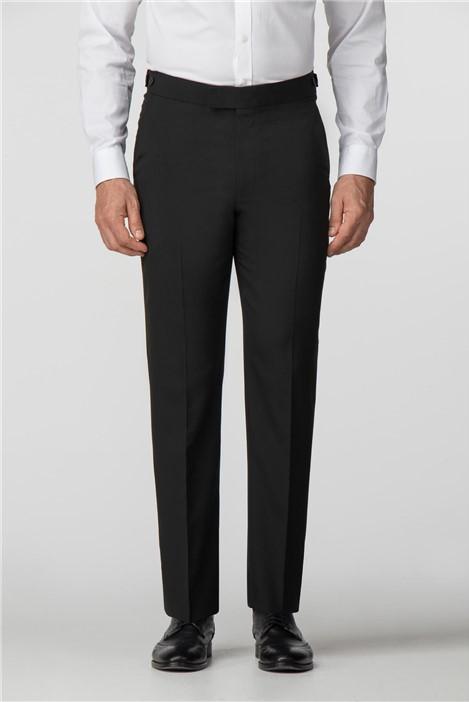 Scott & Taylor Black Regular Fit Dresswear Trousers