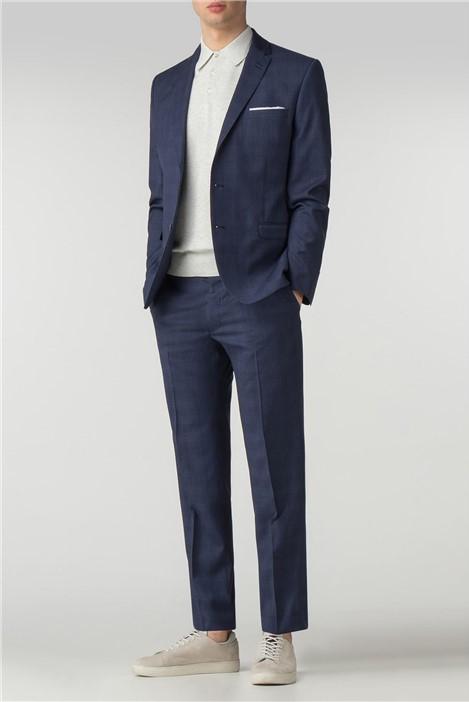Ben Sherman Sapphire Blue Check Camden Fit Suit