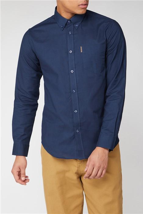 Ben Sherman Navy Long Sleeved Oxford Shirt