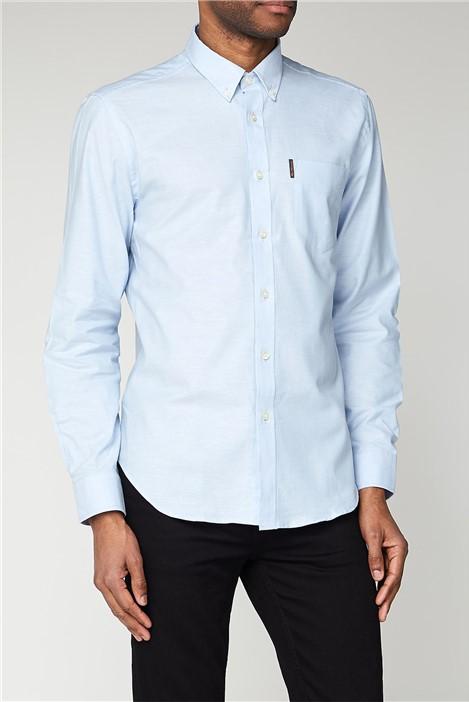 Ben Sherman Sky Blue Long Sleeved Oxford Shirt
