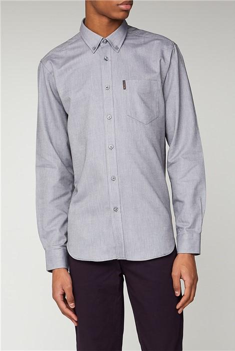 Ben Sherman Grey Long Sleeved Oxford Shirt