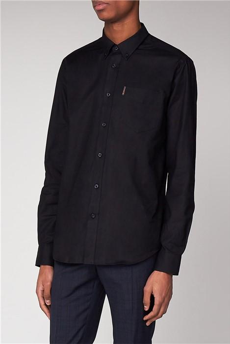 Ben Sherman Black Long Sleeved Oxford Shirt