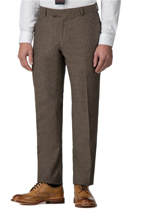 Racing Green Brown Donegal Tailored Trouser