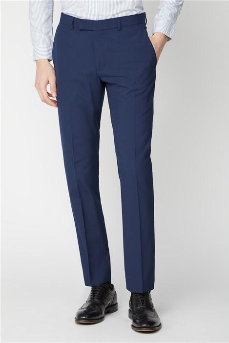 Limehaus Blue Panama Slim Fit Trousers