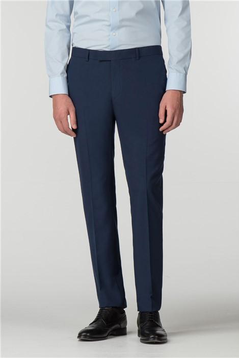 Limehaus Blue Panama Skinny Fit Trousers