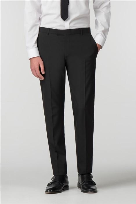 Limehaus Black Panama Skinny Fit Trousers