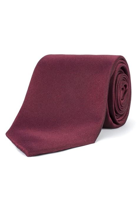 Stvdio Wine Plain Silk Tie