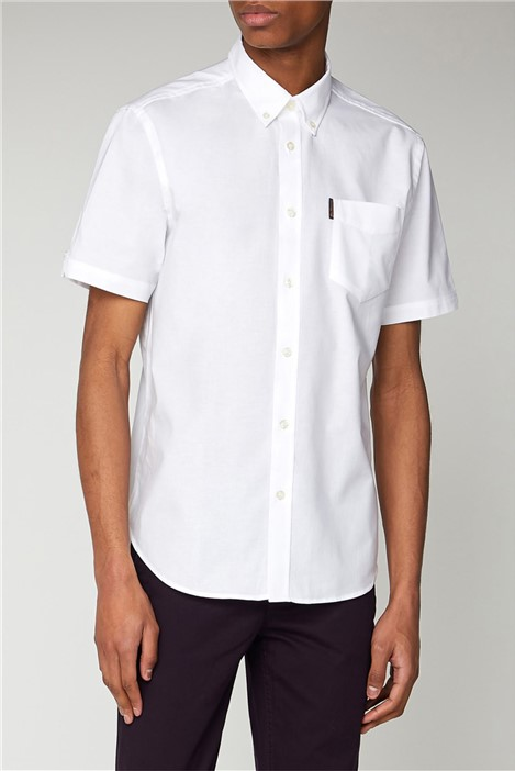 Ben Sherman White Short Sleeved Oxford Shirt