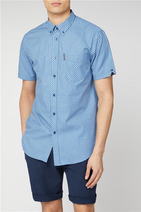 Ben Sherman Short Sleeve Gingham Shirt