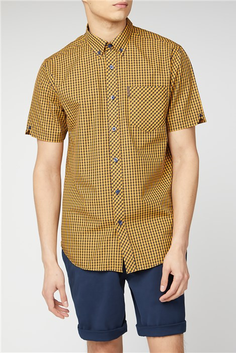Ben Sherman Short Sleeve Gingham Shirt