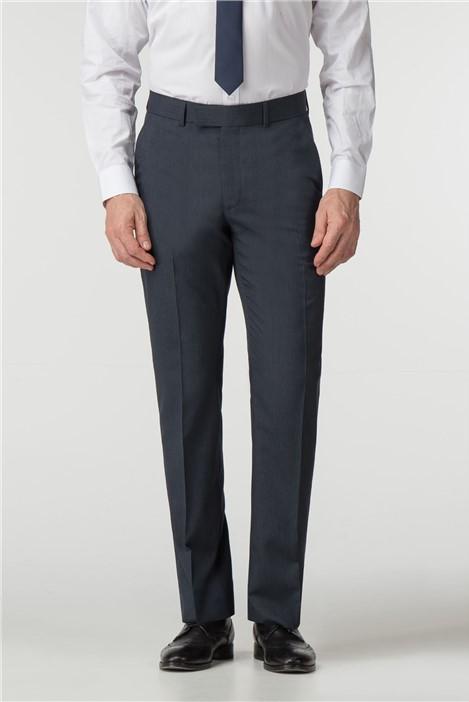 Scott & Taylor Regular Fit Navy Stripe Suit Trouser