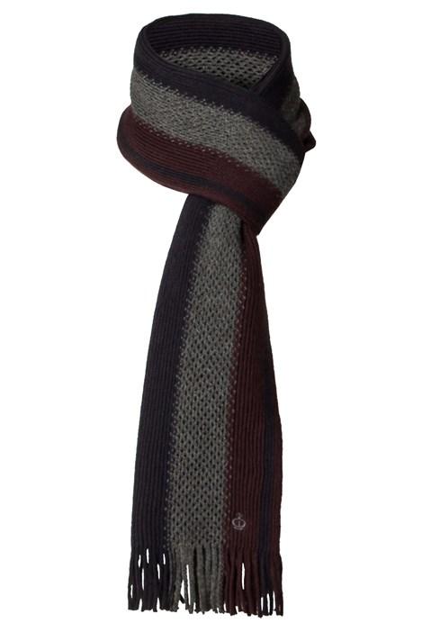 Jeff Banks Aubergine Textured Striped Scarf