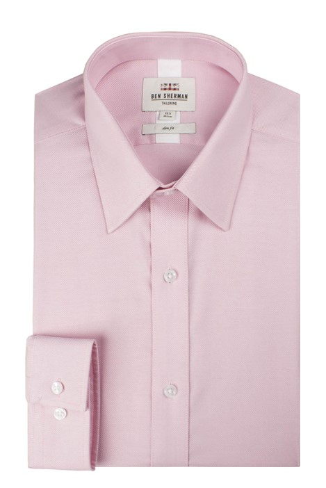 Ben Sherman Long Sleeve Plain Royal Oxford Shirt