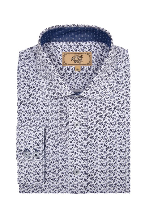 Antique Rogue Blue and White Floral Print Shirt