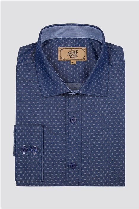 Antique Rogue Blue Polka Dot Shirt