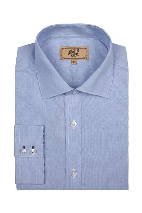 Antique Rogue Light Blue Floral Jacquard Shirt