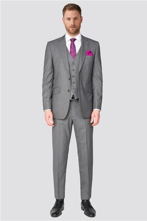 Occasions Grey Plain Regular Fit Suit