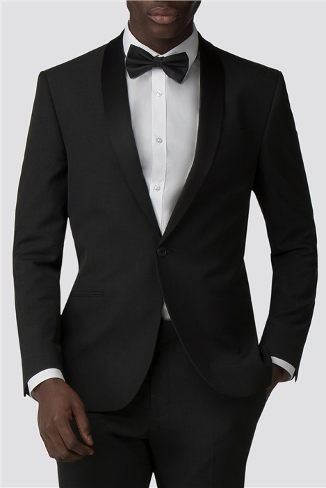 Red Herring Charcoal Slim Fit Tuxedo Jacket