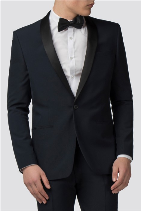 Red Herring Navy Slim Fit Tuxedo Jacket