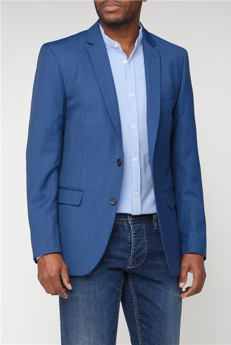 Racing Green Bright Blue Pick & Pick Athletic Fit Jacket