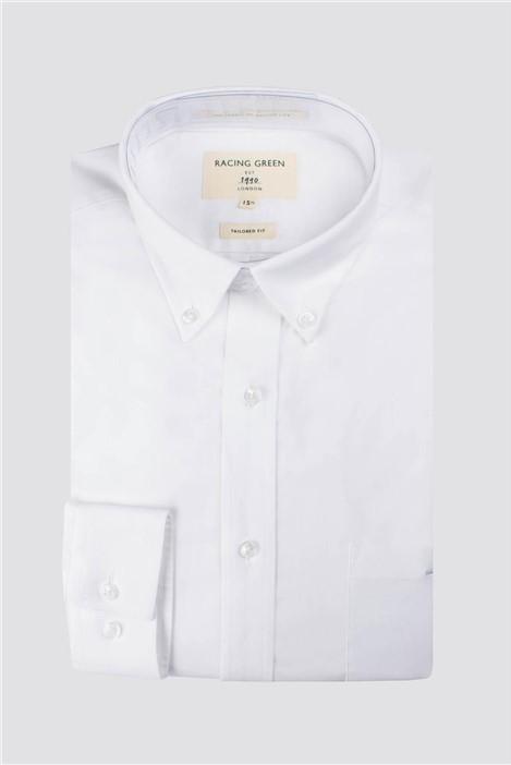 Racing Green White Oxford Tailored Shirt
