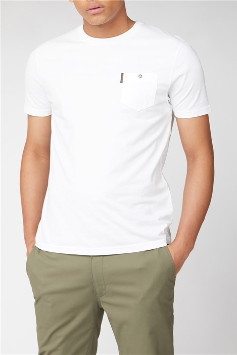 Ben Sherman White Plain Pocket T-Shirt
