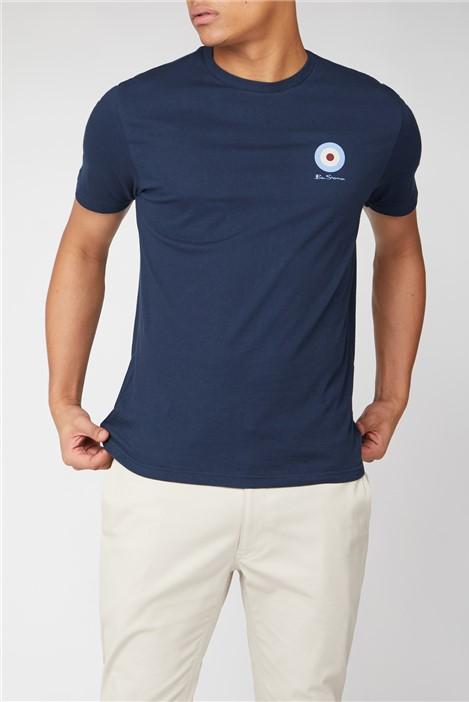 Ben Sherman Navy Chest Target T-Shirt