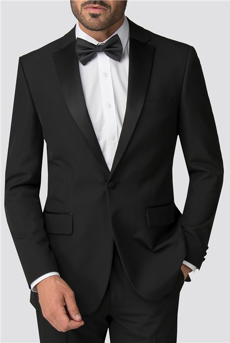 Occasions Black Regular Fit Tuxedo Jacket
