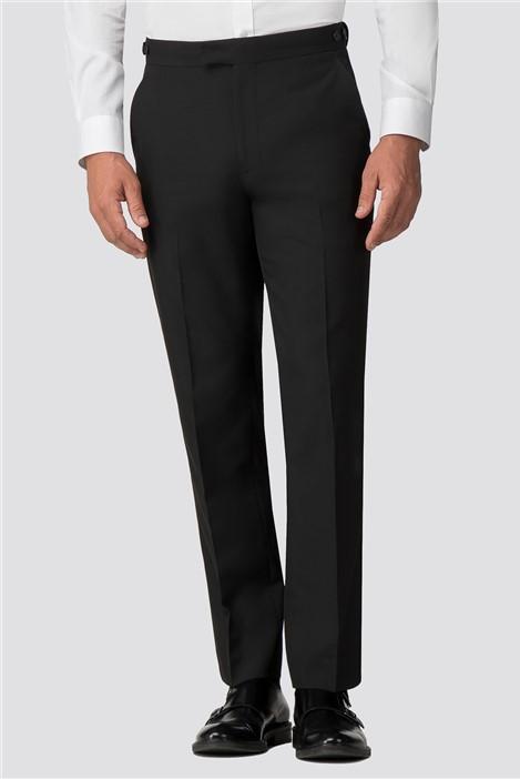 Occasions Black Regular Fit Tuxedo Trouser