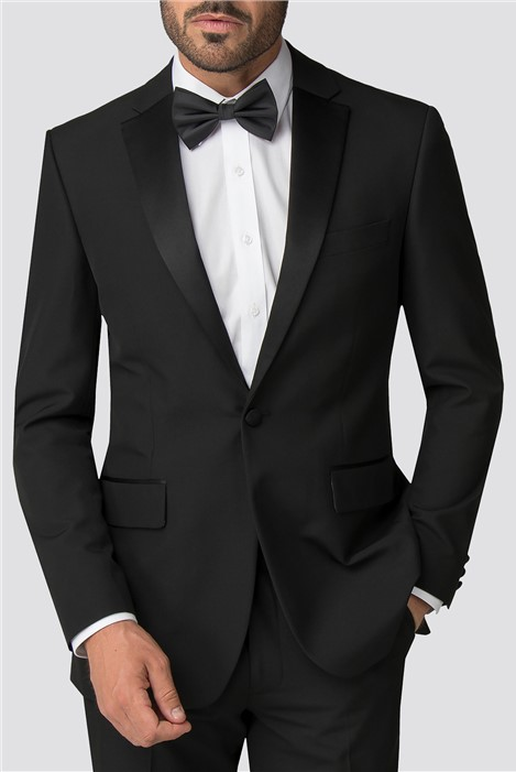 Occasions Black Tailored Fit Tuxedo Jacket