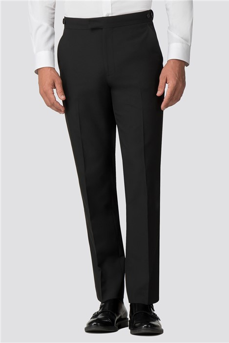 Occasions Black Tailored Fit Tuxedo Trouser