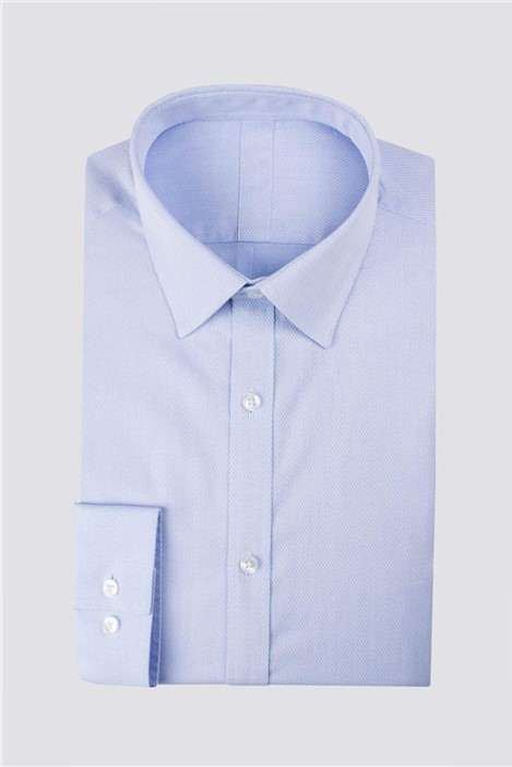 Racing Green Blue Victor Textured Tailored Fit Shirt
