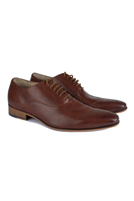 Jeff Banks Brown Punched Toe Detail Shoe