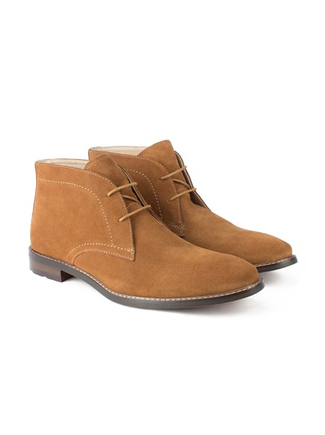 Jeff Banks Brown Suede Lace Up Chukka Boot