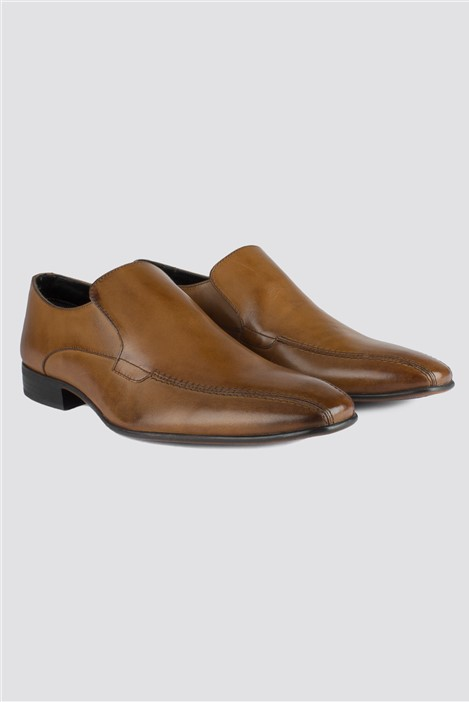 Scott & Taylor Tan Leather Slip On Shoe