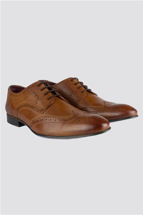 Limehaus Tan Brogue Shoe