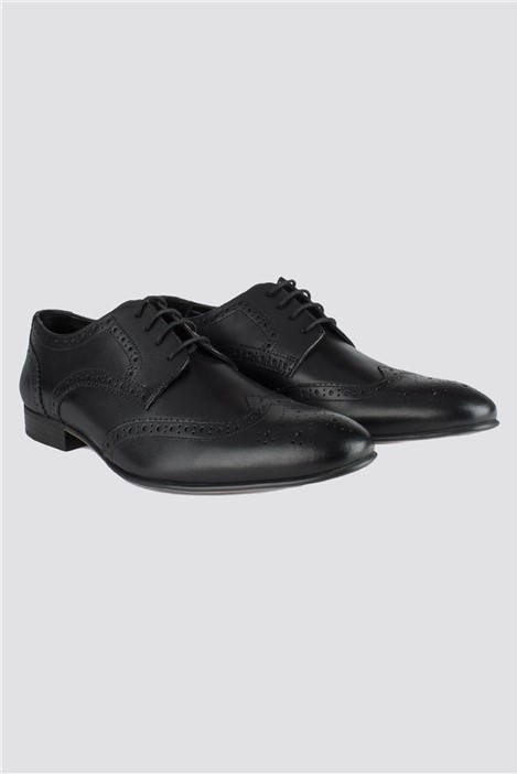 Limehaus Black Brogue Shoe