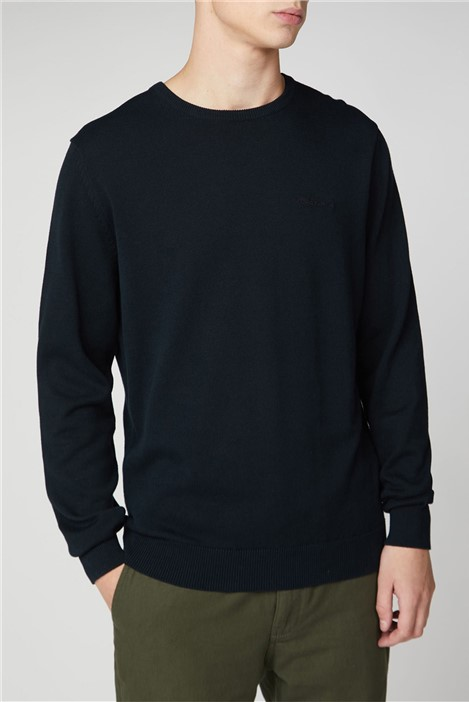 Ben Sherman Black Plain Crew Neck