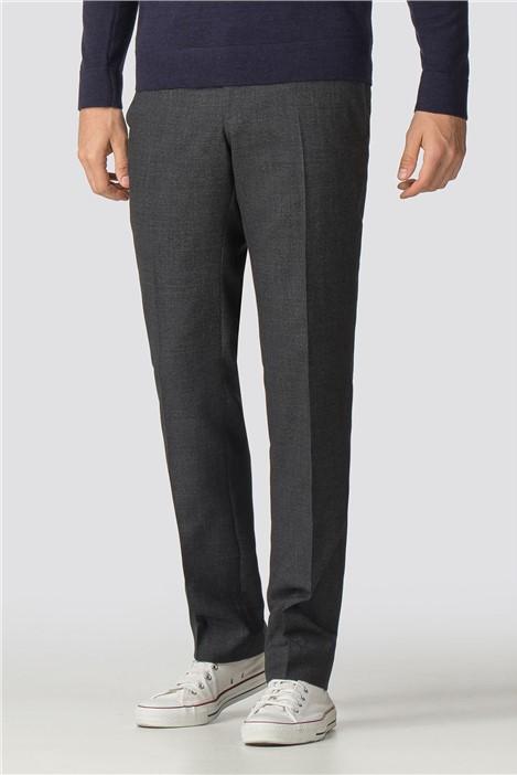 Racing Green Grey Semi-Plain Tailored Fit Trousers