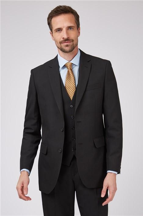Racing Green Black Regular Fit Suit