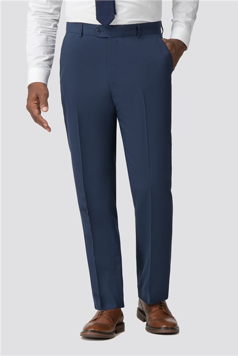 Racing Green Bright Blue Regular Fit Trousers