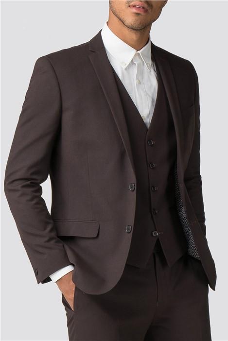 Red Herring Branded Burgundy Slim Fit Suit