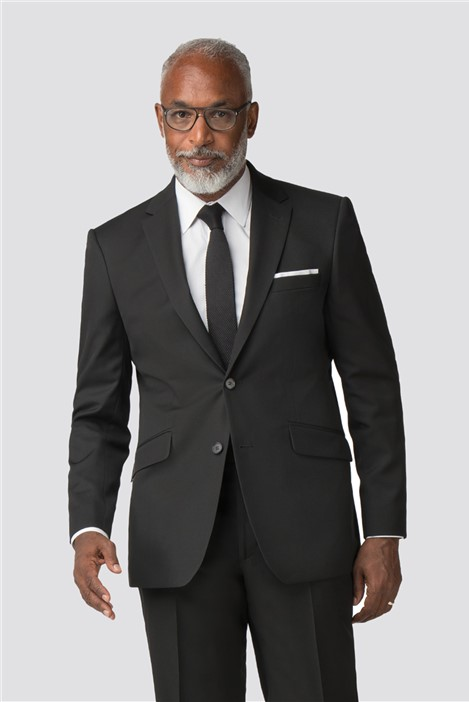 Racing Green Black Twill Regular Fit Performance Suit